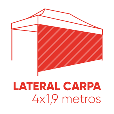 Pared lateral carpa 4,5x1,9