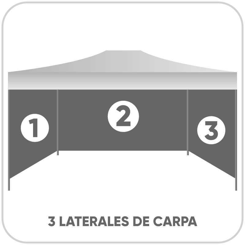 Parede lateral carpa 4,5x1,55 m
